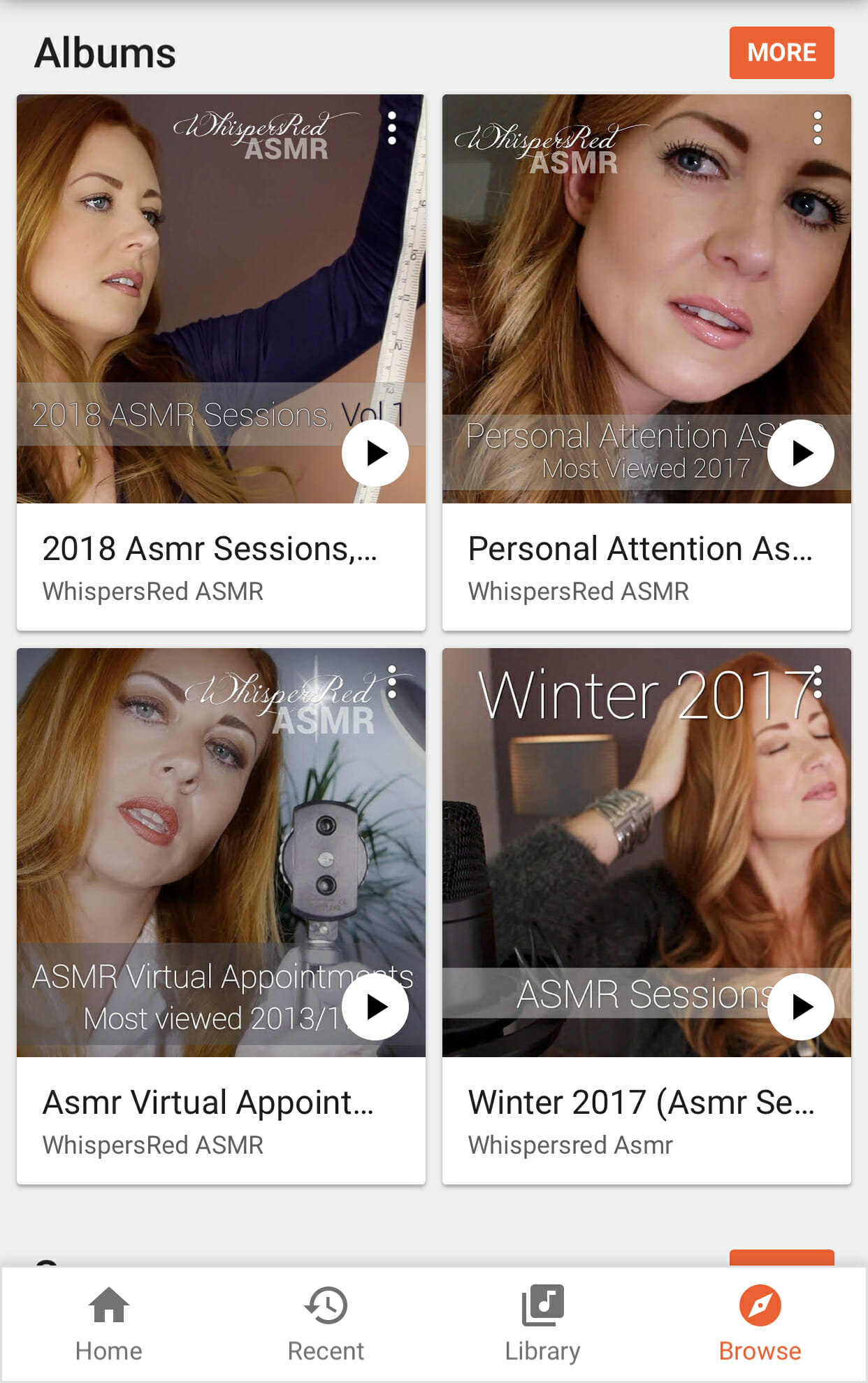 Google Play WhispersRed ASMR